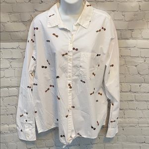 🆕Old Navy button down sunglasses shirt